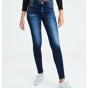 American eagle , super stretch , size 8,jeans